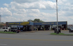 Goodyear Tire Company mechanic shop in Goodlettsville, Tennessee.