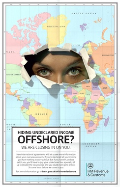 HM Revenue and Customs offshore evasion poster, February 2014