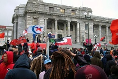 Protests against the Foreshore and Seabed Act 2004, which extinguished claims to aboriginal title to the foreshore and seabeds in New Zealand
