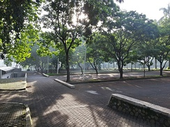 One of the green areas, near UI Auditorium