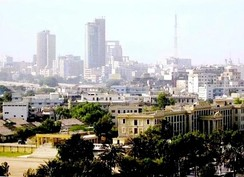 A view of Karachi downtown, the capital of Sindh province