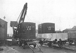 Transferring freight containers on the London, Midland and Scottish Railway (LMS; 1928).jpg