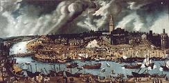 View of Seville and its port in the 16th century, by Alonso Sánchez Coello.