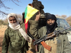 Tuareg separatist rebels in Mali, January 2012
