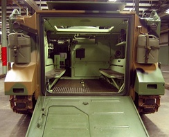 Interior of an M113 at the American Armored Foundation Museum in Danville, Virginia, July 2006