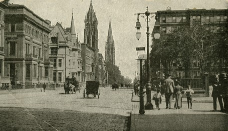 Street view looking north from 51st St. c. 1895