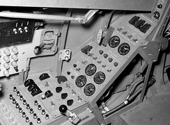 Cockpit of the HL-10 lifting body.