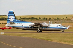The first production Fokker F27 in NLM colours at an airshow in 2006