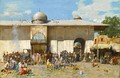 A Market Scene by Alberto Pasini, late 19th century