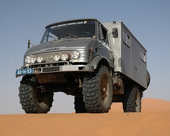 Unimog, a famous allround vehicle by Mercedes-Benz