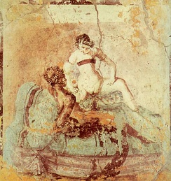 "The ""woman riding"" position was a favorite in Roman art[569]"