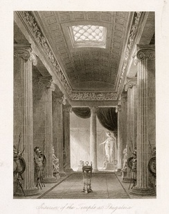Cockerell's depiction of the temple of Apollo at Bassae, 1860