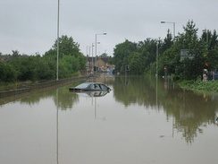 Tewkesbury during the 2007 floods