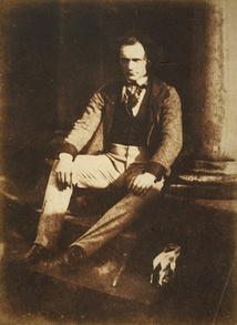 Thomas Duncan, by Hill & Adamson, c. 1844; medium: calotype print, size: 19.60 x 14.50 cm; from the collection of the National Galleries of Scotland