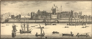 An engraving of the Tower of London in 1737 by Samuel and Nathaniel Buck