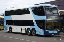 Bustech-bodied double decker in Sydney, Australia