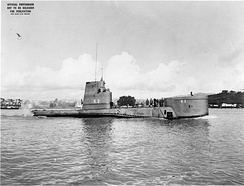 USS K-3 with BQR-4 sonar dome