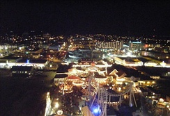 View of Wildwood, Cape May County from the Mariner's Landing Ferris wheel at night