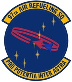 Emblem of the 97th Air Refueling Squadron