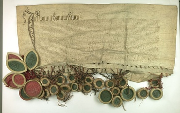 Prussian Confederation offered to incorporate Prussia into the Crown of the Kingdom of Poland, 1454, Central Archives of Historical Records, Warsaw