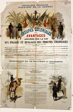 French marines recruitement poster