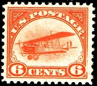 1918 6c was the same design as the notable 24-cent Inverted Jenny variety of this series