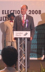 Alan Craig standing for London mayor in 2008.