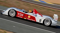 A diesel-powered Audi R10 TDI