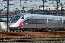 The China Standardized EMU, also known as Fuxing Hao, is an indigenous Chinese bullet train whose maximum operating speed reaches 350 km/h (217 mph)