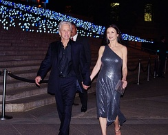 Douglas in 2012 at a Vanity Fair party with his wife, Catherine Zeta-Jones