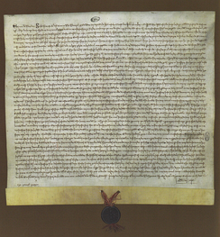 Royal charter of 1 February 1317, appointing Manuel Pessanha as the first Admiral of Portugal.