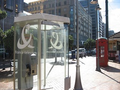 As a result of deregulation, Orange operates phone booths in Wellington, New Zealand.