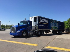 Goya truck in Houston, Texas