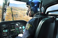 A helicopter pilot with the RCMP Air Services Branch
