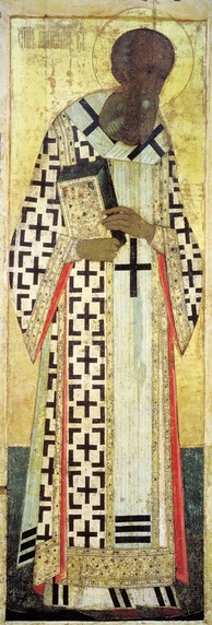 Andrei Rublev, Gregory the Theologian (1408), Dormition Cathedral, Vladimir.