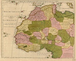 1707 map of West Africa, by Guillaume Delisle