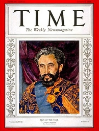 Haile Selassie's resistance to the Italian invasion of Ethiopia made him Time Man of the Year 1935.