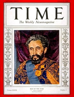 Haile Selassie's resistance of the Italian invasion, made him Time Man of the Year 1935.