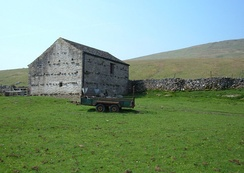 Typical Dales barn, near Selside