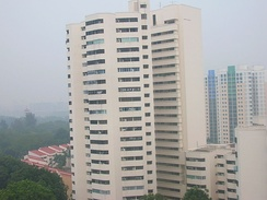 Singapore's Jurong East neighbourhood being blanketed by the haze.