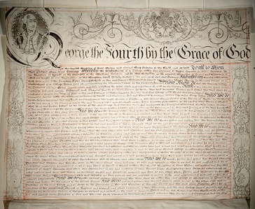 Charter granted by King George IV in 1827, establishing King's College, Toronto, now the University of Toronto