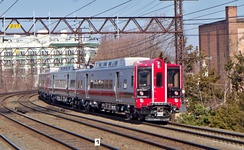 Metro-North Railroad M8 married pairs in Port Chester, New York