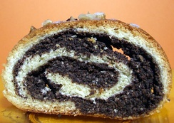 Polish makowiec, Slovak makovník, a nut roll filled with poppy seed paste