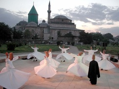 Tomb of Sufi-mystic Rumi in Konya, Turkey
