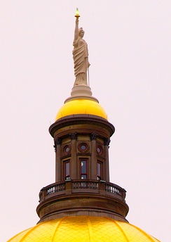 The statue atop the Georgia State Capitol building.