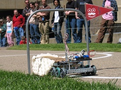 A Mobot competing in the annual Mobot challenge