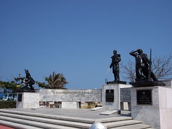 A monument to commemorate the battle and defence of Veracruz City on 21 April 1914
