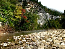 The Buffalo National River, the first National River established in the United States
