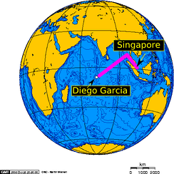From 2004 to 2009, MV Baffin Strait transited between Singapore and Diego Garcia once a month.