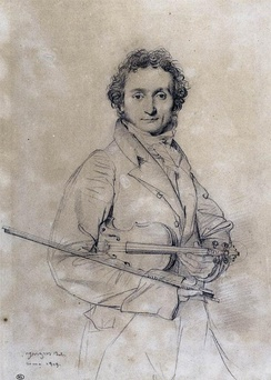 Niccolò Paganini (1819), by Jean-Auguste-Dominique Ingres